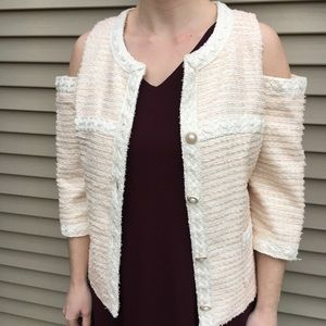 Boston Proper Open-shoulder elegant jacket blazer